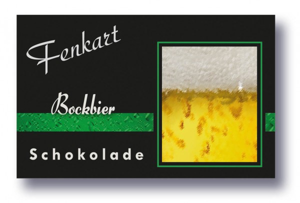 "Bockbier Schokolade 1x 80g - Fenkart Schokoladengenuss - ""Bean to Bar"" Bier Schokolade"