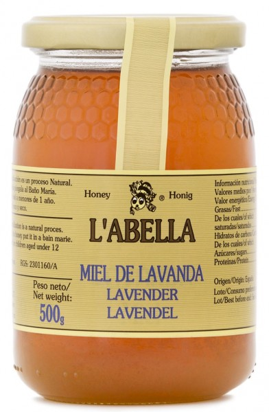 Lavendelhonig aus Spanien - Premium Qualität - reines Naturprodukt - kaltgeschleudert - im Glas