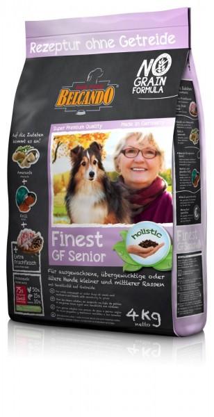 Hunde Trockenfutter - Finest Senior mit Geflügel 4kg - Getreidefrei Belcando Hundefutter