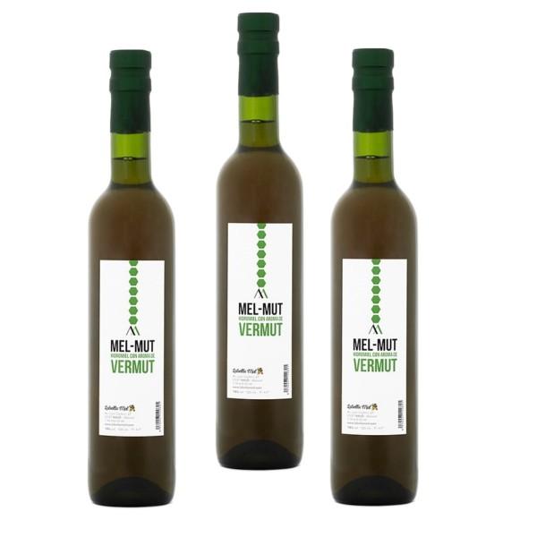 Blütenhonigmet - Honigwein mit Wermut aus Spanien-Premium Qualität-3x500 ml