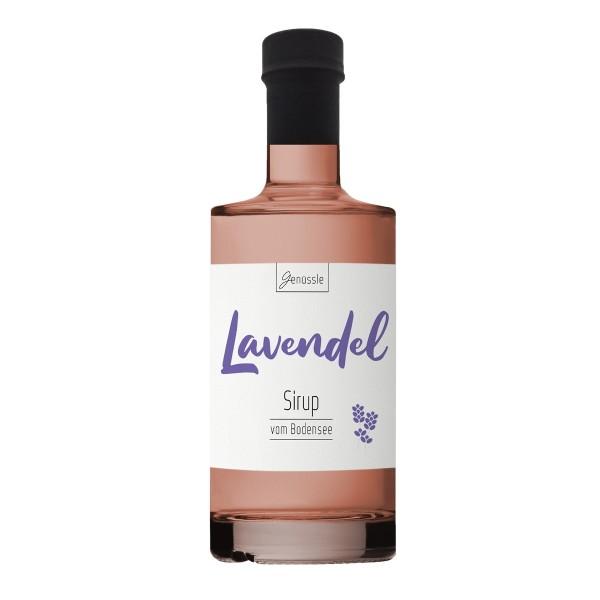 Lavendelblüten-Sirup - Genüssle Lavendelsirup vom Bodensee - Lavendel Sirup