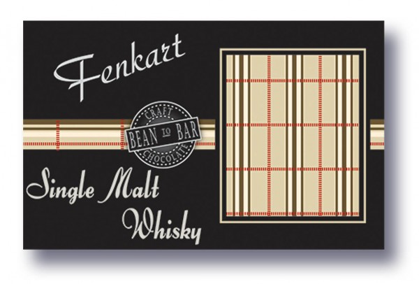 "Single Malt Whisky Schokolade 1x 80g - Fenkart Schokoladengenuss - ""Bean to Bar"" Schokolade"