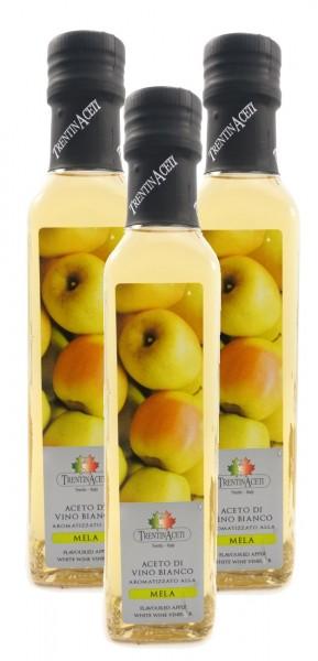 Apfelessig - Weißweinessig mit Aroma - aus Italien - TrentinAcetia - 3x250 ml