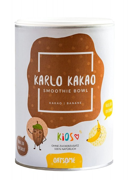 Oatsome - Kids Karlo Kakao - Smoothie Bowl - Nährstoff Frühstück mit 100% natürlichen Zutaten & ohne Zusatzstoffe und raffinierten Zucker - 400g