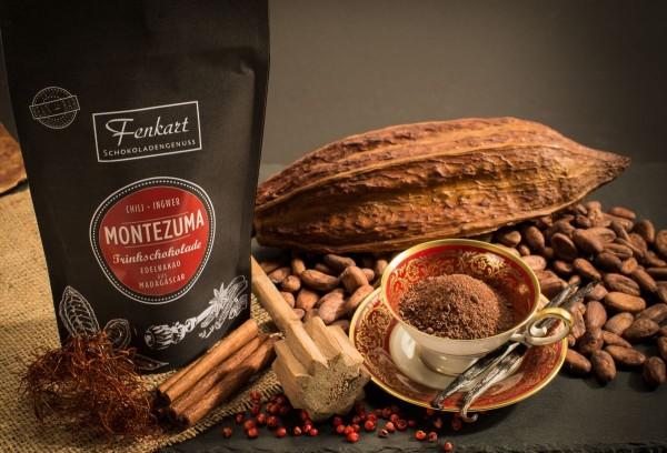 Trinkschokolade Chili Ingwer 200g | Montezuma Kakao Natur aus kräftigem Edelkakao aus Madagascar