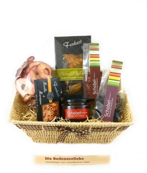 Bodenseeliebe-Geschenkkorb - Besondere Geschenkkörbe - Delikatessen-Präsentkorb vom Bodensee