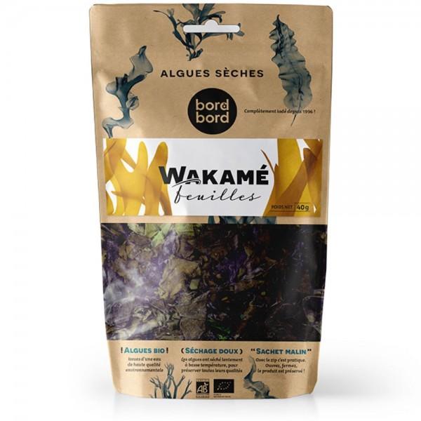 Bord à bord BIO Wakame Blätter 40g aus dem Atlantik | Undaria pinnatifida | Getrocknete Algen | Laborgeprüft für Smoothies oder als Trocken-Gemüse