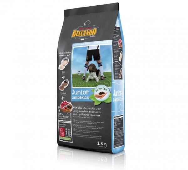Hunde Trockenfutter - Junior Lamb mit Lamm und Reis 1kg - Belcando Hundefutter - leichtverdaulich