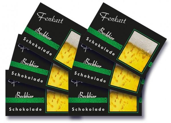 "Bockbier Schokolade 6x 80g - Fenkart Schokoladengenuss - ""Bean to Bar"" Bier Schokolade"