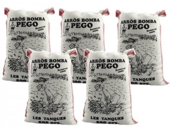 Bomba Reis aus Spanien 5 x 500g - Rundkornreis - für Paella, Risotto.... - Anbau im Naturpark Marjal