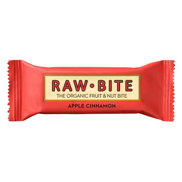 Raw Bite - Apple Cinnamon Riegel - Frucht-Nussriegel mit Apfel und Zimt