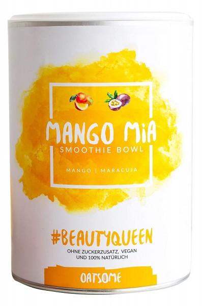 Oatsome - Mango Mia - Smoothie Bowl - Nährstoff Frühstück mit 100% natürlichen Zutaten & ohne Zusatzstoffe und raffinierten Zucker - Lange satt mit nur 200 kcal - 400g