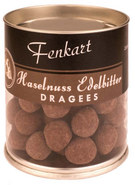 Haselnüsse Edelbitter 120g - Fenkart Schokoladengenuss - Schokoladen-Dragees - Edelvollmichschokolade