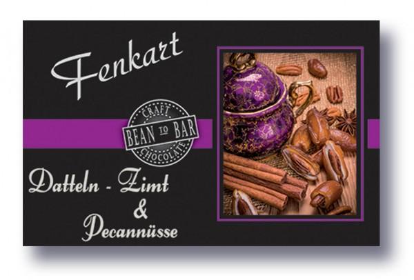 "Dattel Zimt & Pecannüsse Schokolade 1x 80g - Fenkart Schokoladengenuss - ""Bean to Bar"" Schokolade"