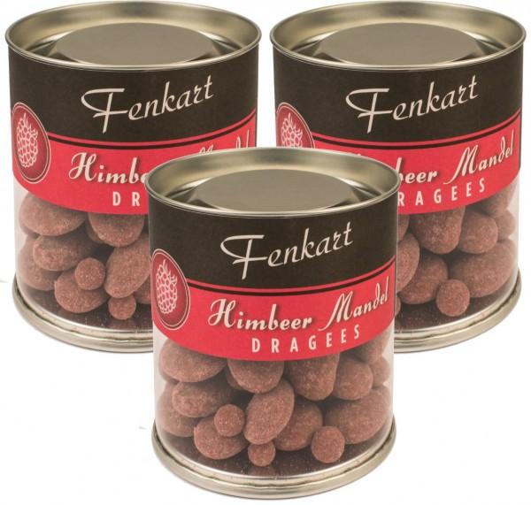 Himbeermandeln 3x 120g - Fenkart Schokoladengenuss - Schokoladen-Dragees Edelvollmichschokolade 40%
