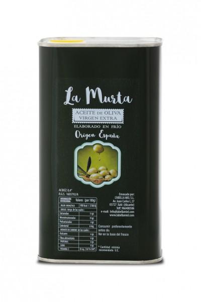 Extra Natives Olivenöl aus Spanien - höchste Qualität - reines Naturprodukt - kaltgepresst - 1 Liter