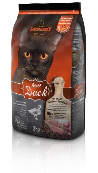 Katzen Trockenfutter - Adult Duck mit Ente & Reis 2Kg - Leonardo Katzenfutter - leichtverdaulich