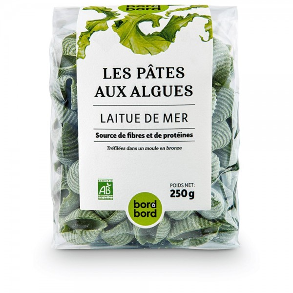 Bord à bord BIO Nudeln mit Algen/Meersalat 250g aus Frankreich/Bretagne/Atlantik | Laborgeprüfte Algennudeln