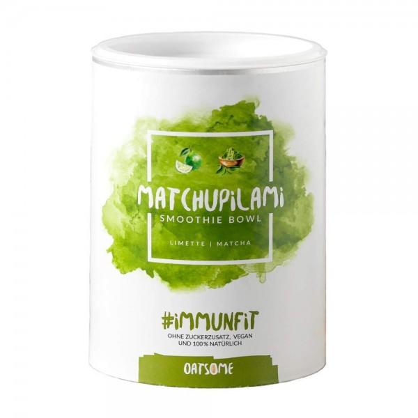Oatsome - Matchupilami - Smoothie Bowl - Nährstoff Frühstück mit 100% natürlichen Zutaten & ohne Zusatzstoffe und raffinierten Zucker - Lange satt mit nur 200 kcal - 400g