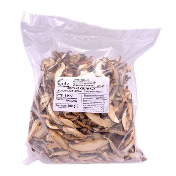 Kultivierter Shiitake Pilz - getrocknete Speisepilze der Spitzenklasse aus Spanien - Scheiben -400 g