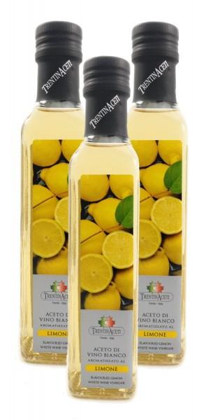 Zitronenessig - Weißweinessig mit Aroma - aus Italien - TrentinAcetia - 3x250 ml