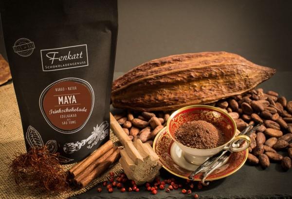 Trinkschokolade Maja 200g | Kakao Natur aus kräftigem Edelkakao aus Sao Tomé Principe