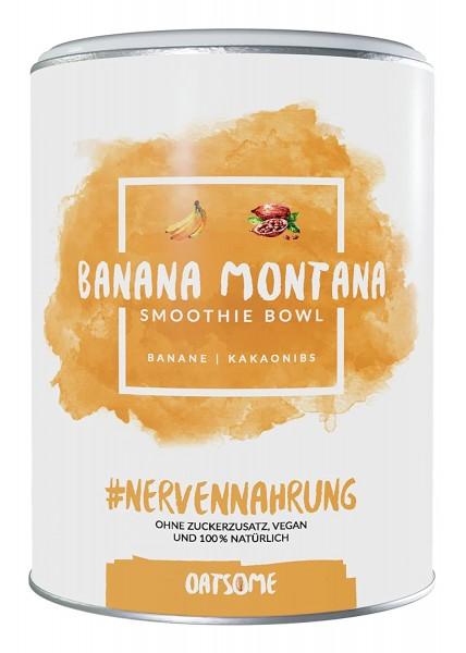 Oatsome - Banana Montana - Smoothie Bowl - Nährstoff Frühstück mit 100% natürlichen Zutaten & ohne Zusatzstoffe und raffinierten Zucker - Lange satt mit nur 200 kcal - 400g
