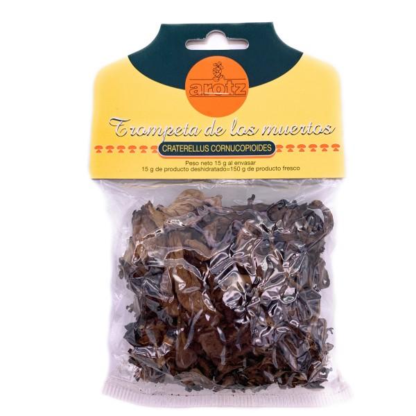 Schwarzer Trompete Pilz - getrocknete Speisepilze der Spitzenklasse aus Spanien - in Scheiben - 15 g