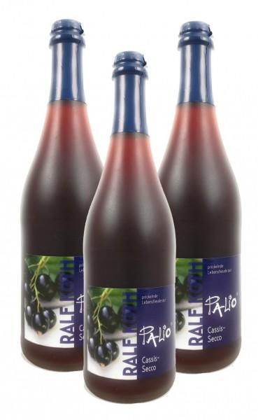 Palio - Cassis Secco 3x 0,75l - Fruchtiger Perlwein - Prämiert aus Deutschland