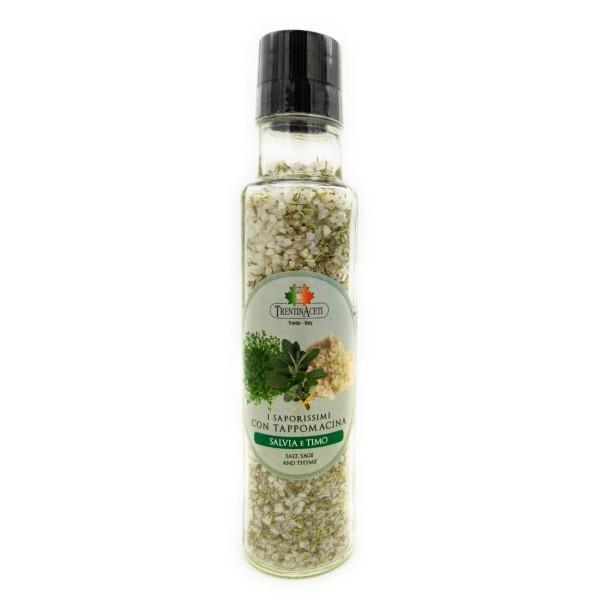 Italienische Gewürzmischung - Salbei & Thymian Salz Gewürze - Salvia e Timo Salz - höchste Qualität - 260g