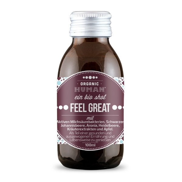 Organic Human - Bio Shot - Feel Great Fruits mit Aktiven Milchsäurebakterien