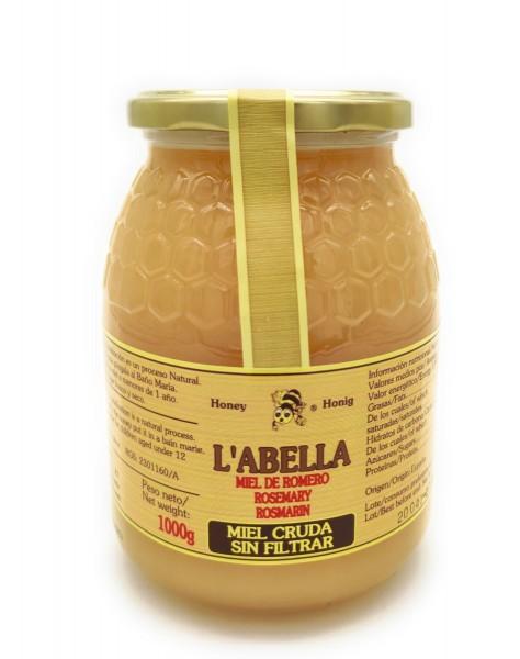 RAW Rosmarinhonig aus Spanien - Ungefilterte Premium Qualität - reines Naturprodukt - kaltgeschleudert - im Glas