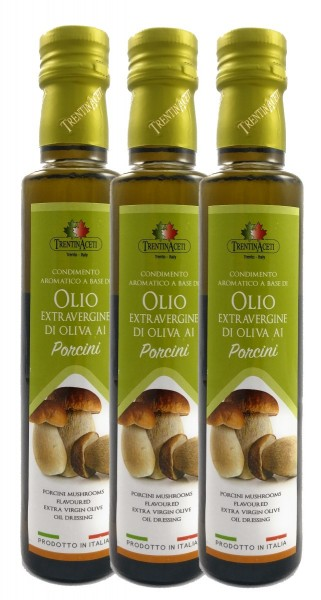 Extra Natives Olivenöl mit natürlichen Steinpilzaroma - höchste Qualität-3x250ml