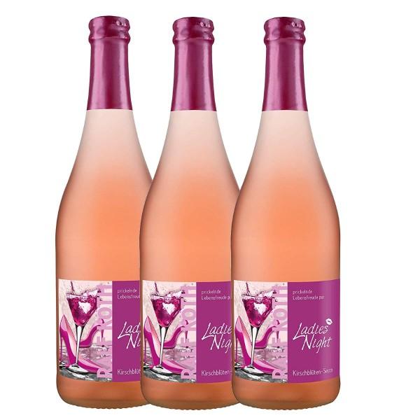 Palio - 3x Ladies Night Kirschblüten Secco 0,75l - Fruchtiger Perlwein