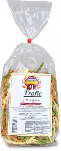 Frische Trofie Tricolor Nudeln aus Italien 500g – trafila in bronzo - Trofiette