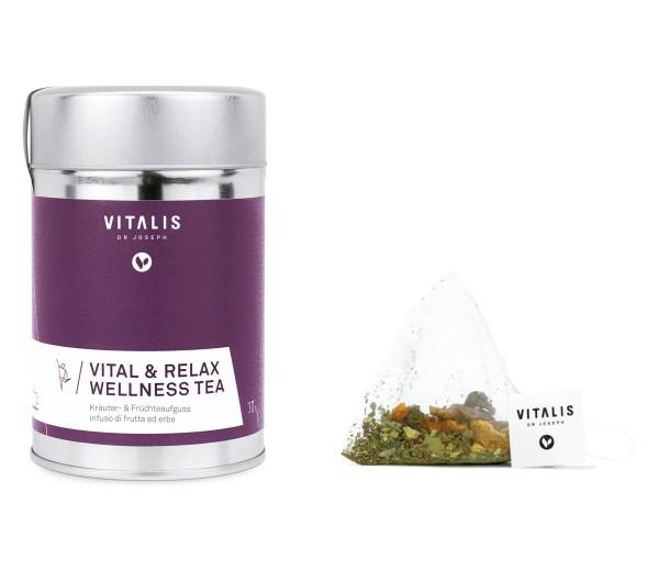 Vitalis - Kräutertee Vital & Relax Wellness Tea 30g - Tee von Vitalis Dr. Joseph