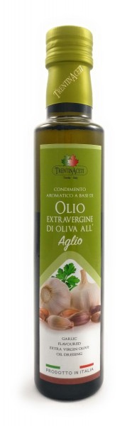 Extra Natives Olivenöl mit natürlichen Knoblaucharoma aus Italien - höchste Qualität - 250 ml