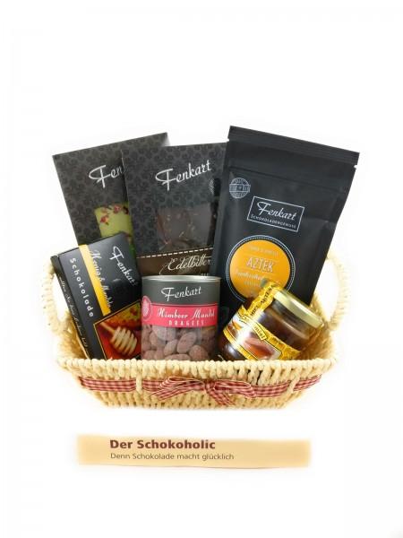 Schokoholic-Geschenkkorb - Besondere Geschenkkörbe - Delikatessen-Präsentkorb mit Schokolade