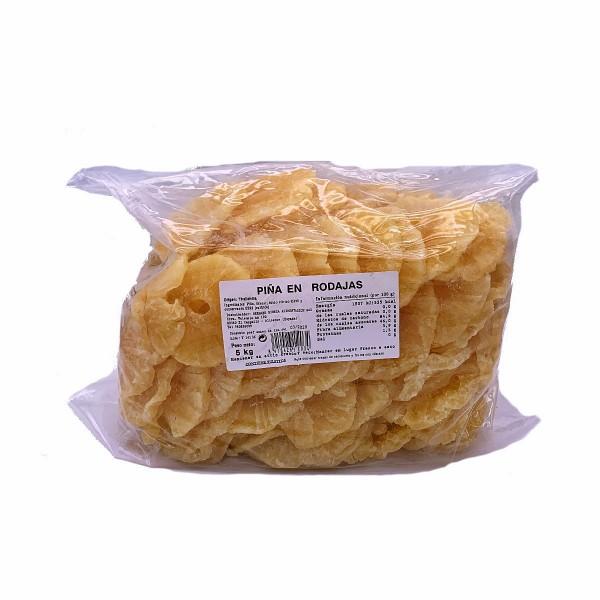 Getrocknete kandierte Ananas Scheiben - natürliche Premium Qualität - Vitaminreich - aus Thailand - 5 kg