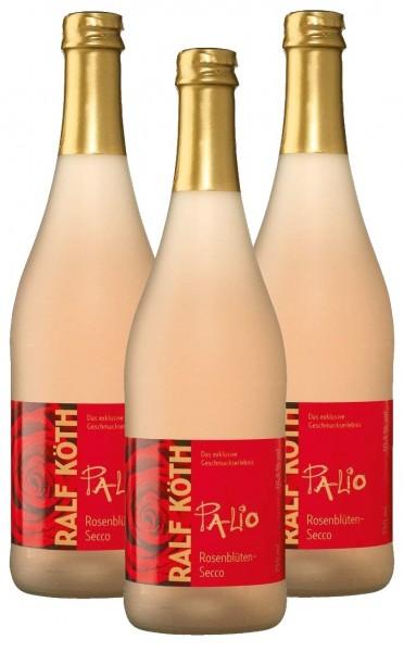 Palio - Rosenblüte Secco 3x 0,75l-Fruchtiger Perlwein-Prämiert aus Deutschland