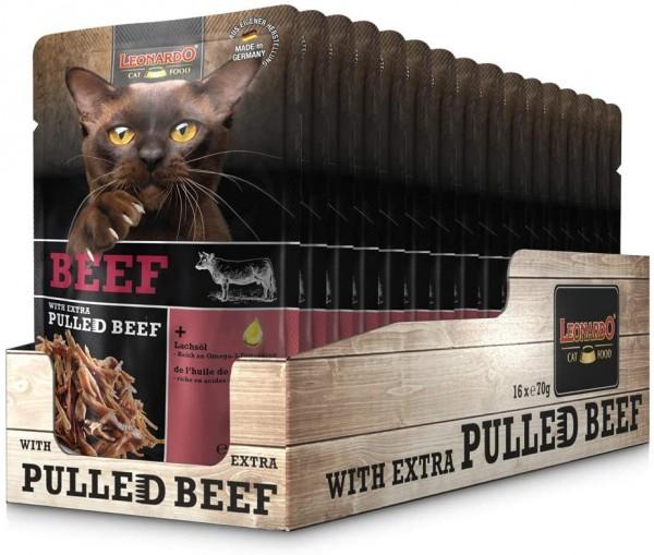 Leonardo Frischebeutel Beef mit Fleischstreifen [Pulled Beef] 16x 70g